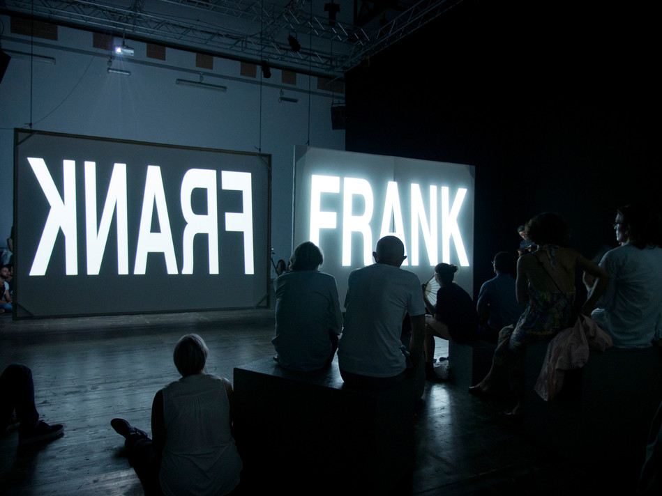 """""""THUIS: The First Season of Frank"""" (stage-right view)"""