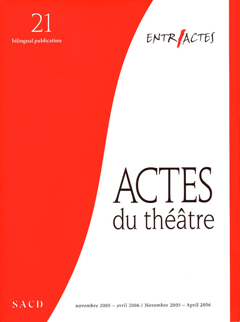 """Act French: Notes & Reflections"" [2006]"