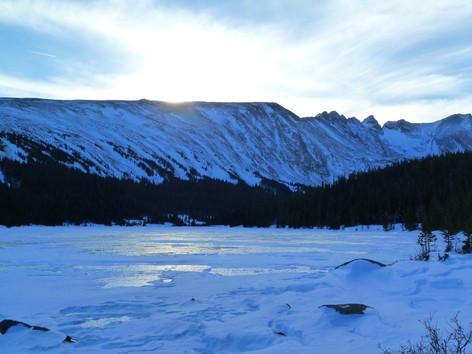 Winter Sunset by Ellen Steiner