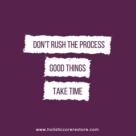 don't rush the process, good things take time. prolapse recovery