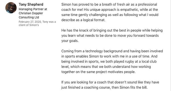 Tony Shepherd LinkedIn Recommendation.pn