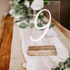 Numéro de table en acrylique