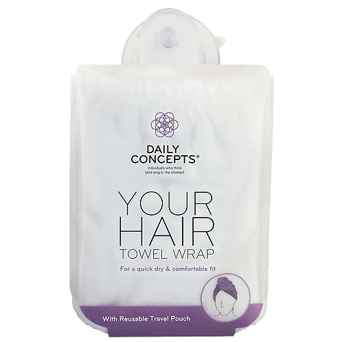 DAILY CONCEPTS. DAILY HAIR TOWEL WRAP