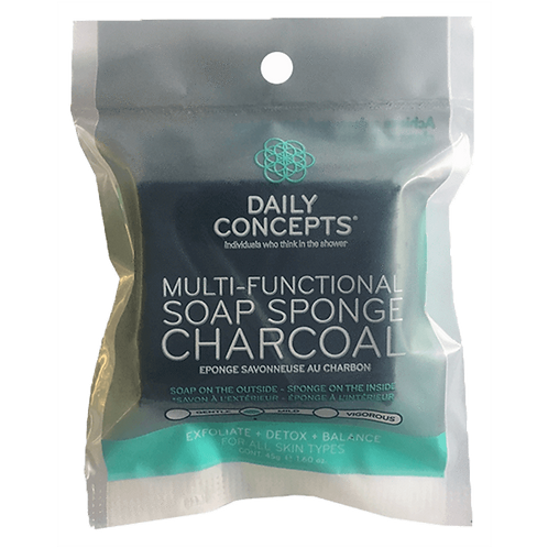 DAILY CONCEPTS. MULTI-FUNCTIONAL SOAP SPONGE CHARCOAL