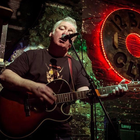 Paul at the much-missed 12 Bar Club In 2014