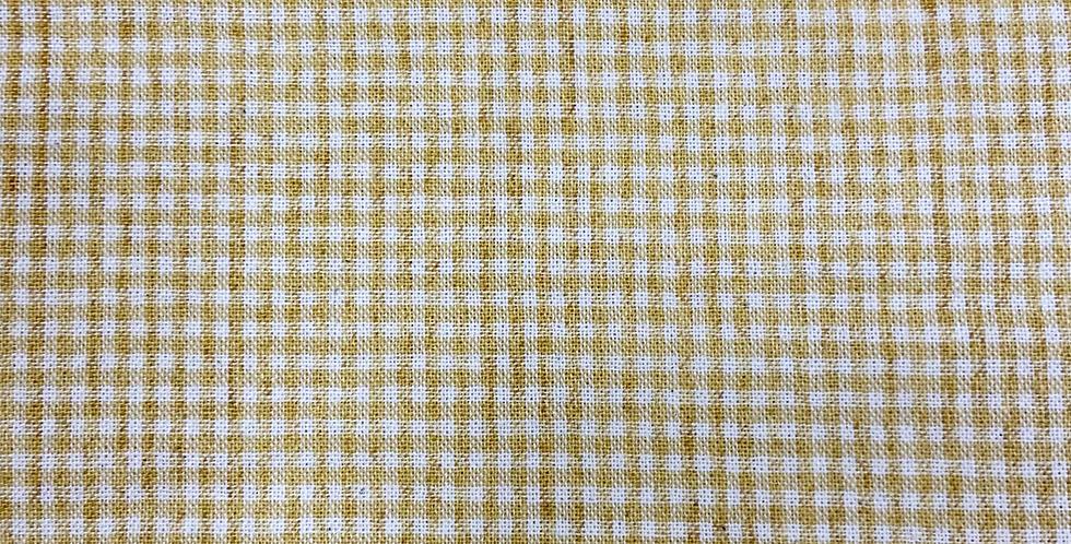 Tela Japonesa Cuadros Pequeños Amarillo