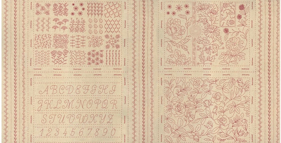 Panel French General Red - Moda Fabric