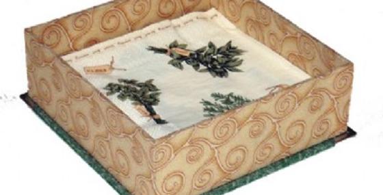 Servilletero Cartonaje Textil