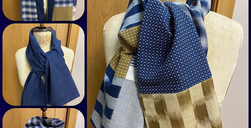 Kit Foulard Reversible Boro - Moda Fabric