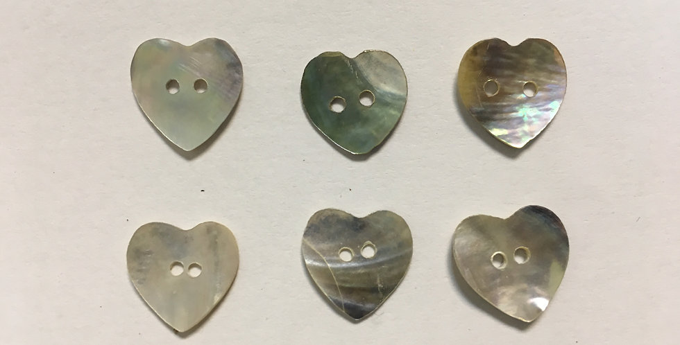Botón Nácar Corazón
