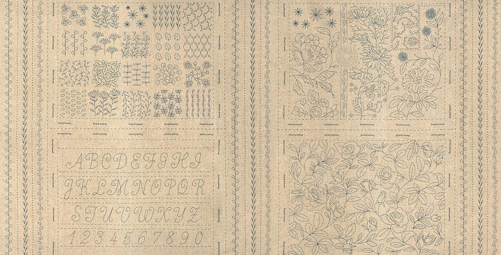 Panel French General Blue - Moda Fabric
