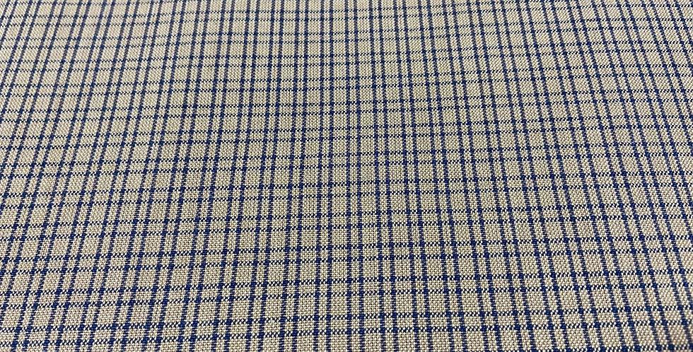 Cuadros azules sobre beige