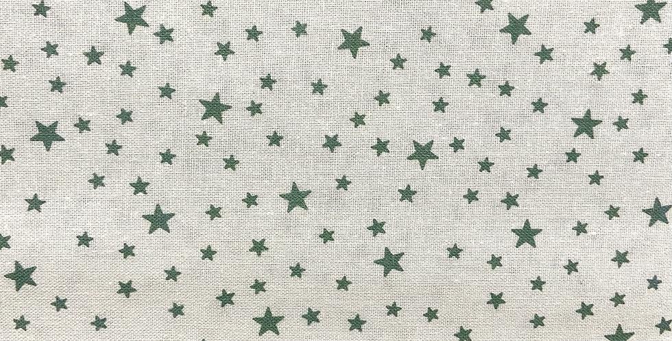 Tela Estrellas Verde Mint Fondo Blanco