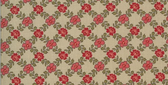 La Rose Rouge II - Moda Fabric