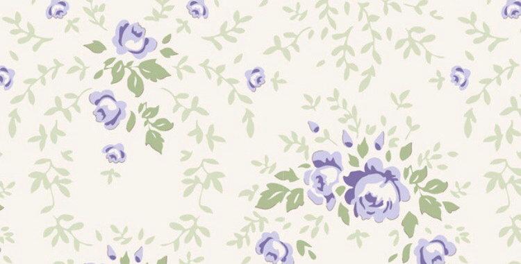 """Tilda """"Old Roses"""" Flowers Purple"""