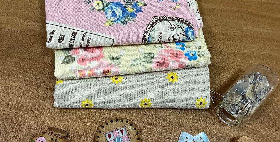 Pack lino floral
