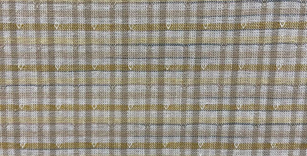 Tela Japonesa Cuadros Beige & Amarillo