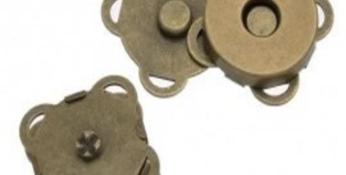 Cierre/Broche mágnetico para coser (2un)