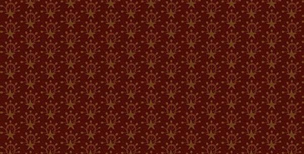 Tela Estrella Granate - Scrap Happy - Henry Glass