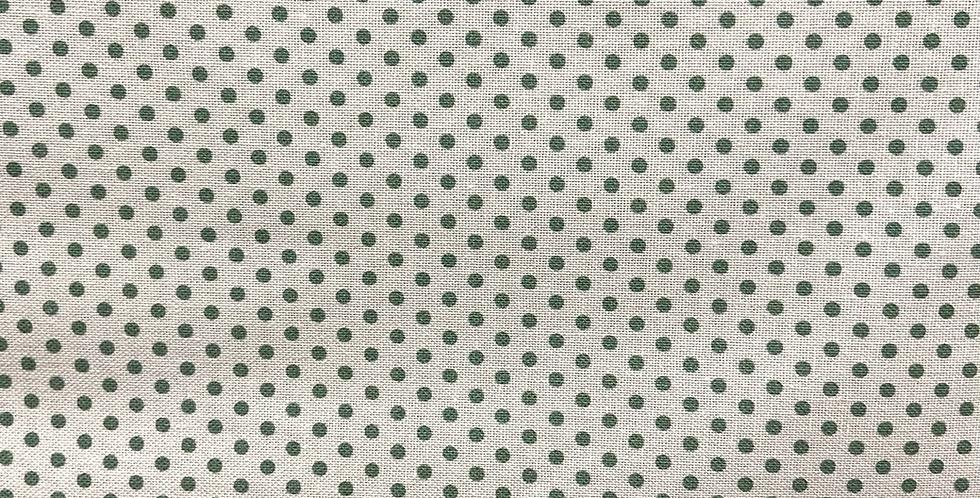 Tela Puntos Verde Mint Fondo Blanco
