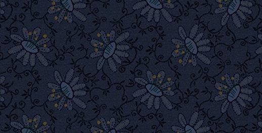 Tela Flores Azul - Scrap Happy - Henry Glass