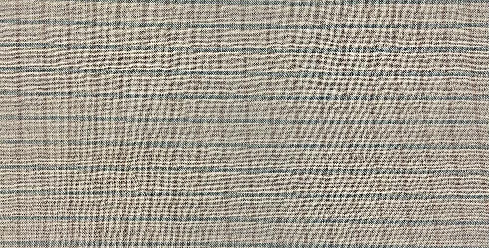 Tela Beige y Azul Cuadros - Japonesa