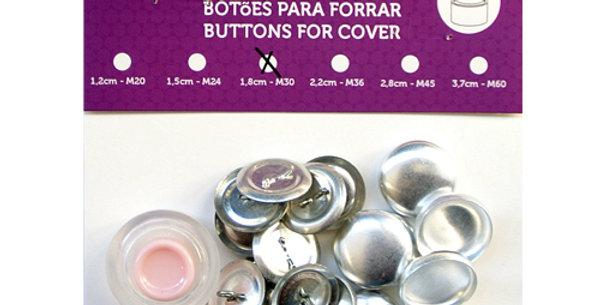 Botones para forrar Con Molde 1.8cm