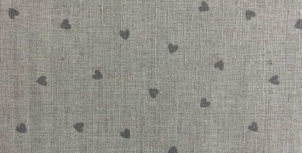 Lino Corazones - Gray Collection