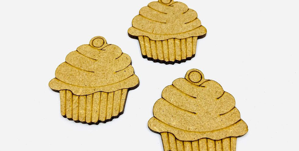 "Botón Madera ""Cupcake"""