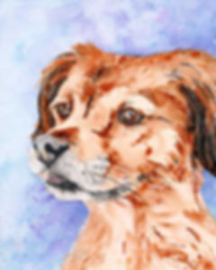 dog painting by Melissa Barbee
