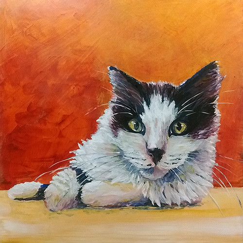 cat painting by Melissa Barbee