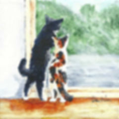 kitten painting by Meissa Barbee