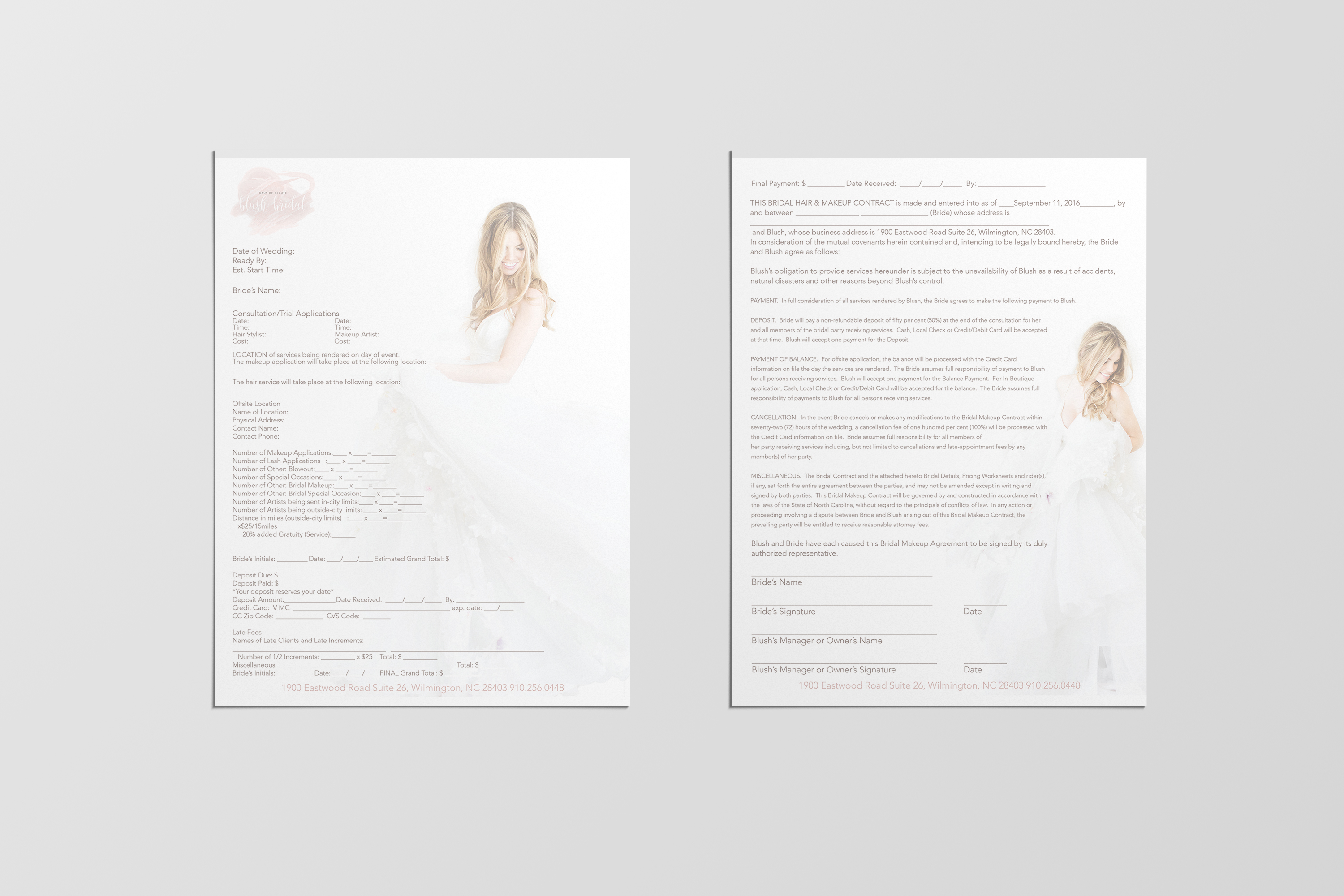 BLUSH BRIDAL CONTRACT