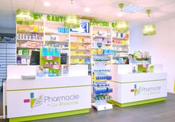 Habillage comptoirs pharmacie