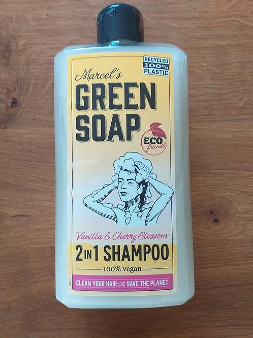 shampoo 2 in 1 vanille & kersenbloesem MARCEL'S GREEN SOAP