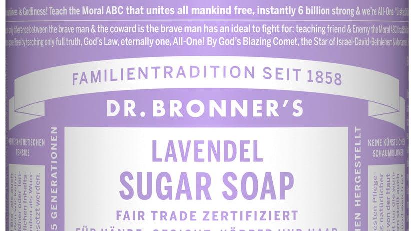 Dr Bronner zeep met pomp lavendel