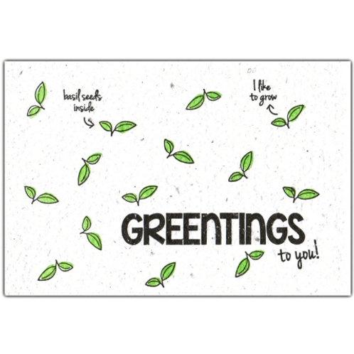 """wenskaart """"greentings"""""""