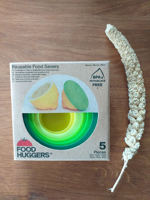 set van 5 fresh green FOODHUGGERS