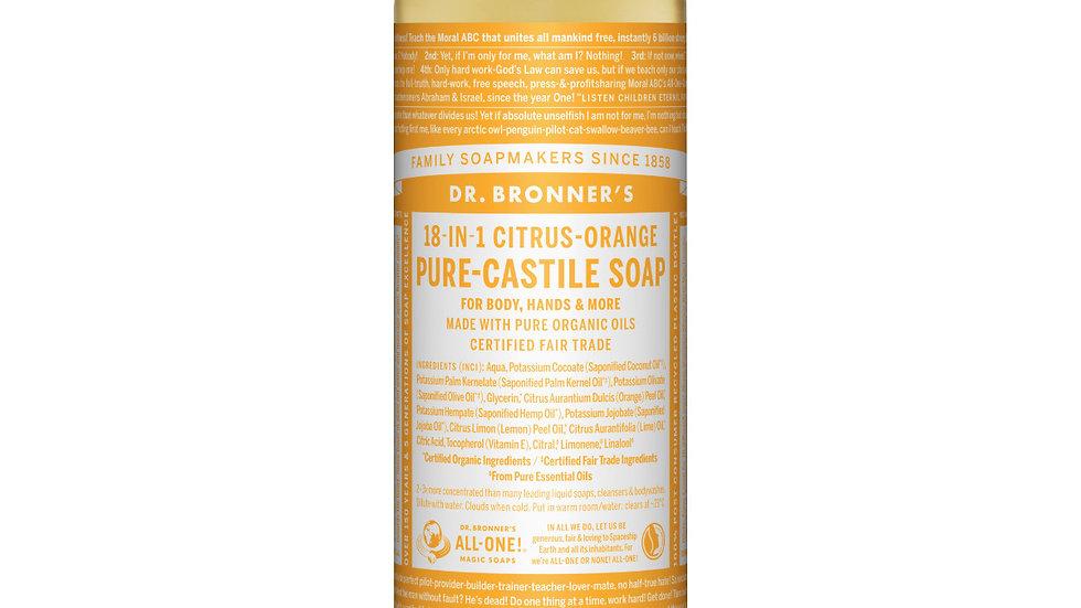 vloeibare zeep citrus-orange DR. BRONNER'S
