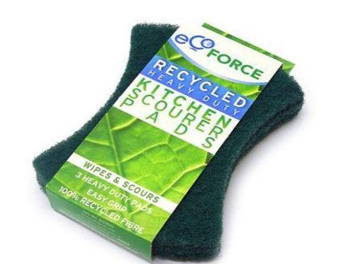 schuurlapjes 3 stuks grof groen ECO-FORCE
