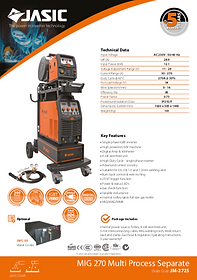 Jasic MIG 270S Sales Leaflet