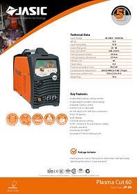 Jasic Plasma Cut 60 Sales Leaflet