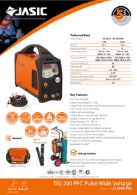Jasic TIG 200P PFC Sales Leaflet