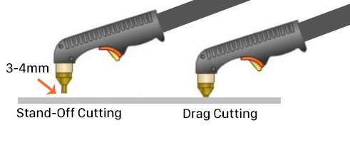 Jasic Stand-off v Drag Cutting example