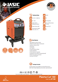 Jasic Cut 160 Sales Leaflet