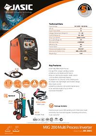 Jasic MIG 200 Compact Sales Leaflet