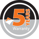 Jasic Welding Inverters 5 Year Warranty Logo