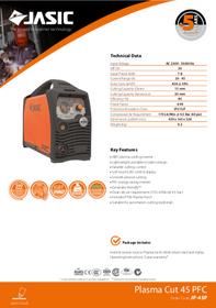 Jasic Plasma Cut 45 PFC Sales Leaflet