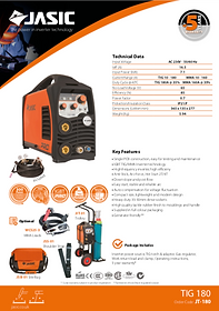 Jasic TIG 180 Sales Leaflet