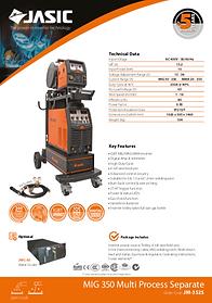 Jasic MIG 350S Sales Leaflet
